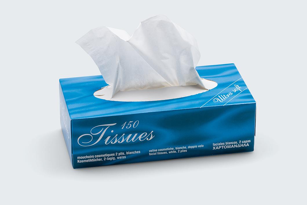 Boite de 150 mouchoirs blanc 2 plis medical promotion - Boite de mouchoirs personnalises ...